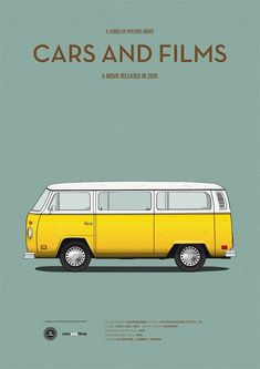 Little Miss Sunshine - Minimalist Illustrations of Iconic Cars in Film.
