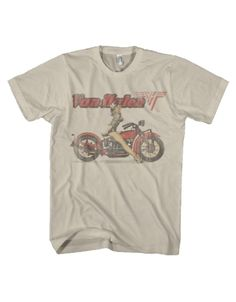 Van Halen Biker Pin Up Mens T-Shirt - Guaranteed Authentic.  Fast Shipping.