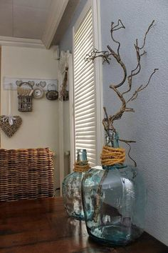 All Details You Need to Know About Home Decoration - Modern Love Decorations, Deco, Jug Decor, Fall Decor, Home Decor, Home Deco, Branch Decor, Glass Jugs Decor, Vases Decor