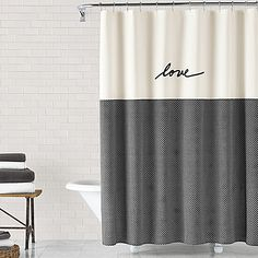 ED Ellen DeGeneres Love 72 Inch X Shower Curtain