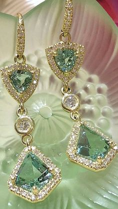 accessories earrings blue earrings - jewelry and accessories - dangly earrings - earrings dangle - jewelry earrings dangle - accessories jewelry - accessories earrings trends - accessories earrings style - Dangly Earrings, Blue Earrings, Crystal Earrings, Diamond Earrings, Peridot Jewelry, Engagement Ring Rose Gold, Fashion Earrings, Fashion Jewelry, Fine Jewelry