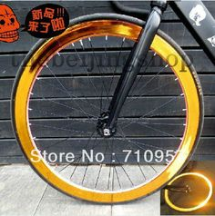 4d3c80333189 New Reflect Golden Rim Wheel Stickers Fixie Bike Single Speed Fixed Gear  bicycle part