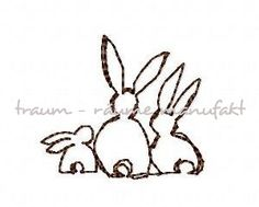 Embroidery Rabbit Family Freebie by Smila´s World, via Flickr