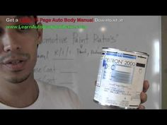 Automotive Paint Mixing Ratios - How To Mix Auto Paint - Mixing Car Paint http://www.learnautobodyandpaint.com/