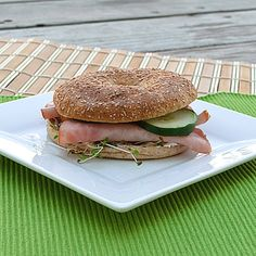 Bagel-thin sandwiches are a quick and easy breakfast. I make mine with cottage cheese & fried egg-white. Yum