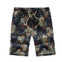 SHAN BAO brand Hawaiian style men and women casual beach shorts summer new loose waist thin flowers shorts 12 colors