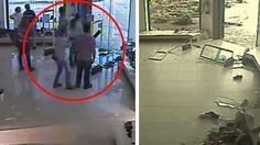 Überwachungskamera filmt: Schuhgeschäft wird von einem Tornado in wenigen Sekunden zerstört!