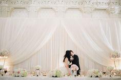 Pretty Pink   White Ballroom Wedding | photography by http://www.jamiedelaine.com/ (via @amiatead)