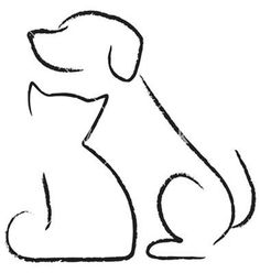 Easy drawings of dogs cat and dog drawing dog drawing simple dog drawings line drawing easy . easy drawings of dogs Cat And Dog Drawing, Dog Drawing Simple, Dog Line Drawing, Drawing Animals, Cat And Dog Tattoo, Cat Tattoo, Drawing Ideas, Cat Icon, Simple Lines