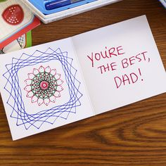 Handmade Spirograph Father's Day card! Show Dad your creative side!