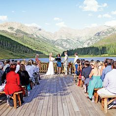 Real Weddings Story ~ http://www.brides.com/blogs/aisle-say/2012/02/colorado-ranch-wedding-ideas.html