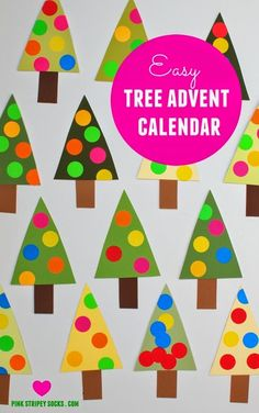 Easy DIY christmas tree advent calendar