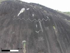 Aerial photograph of monumental Cerro Pintado petroglyphs (Dr Philip Riris)