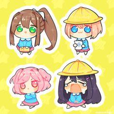 Doki Doki Literature Club Stickers Literature club