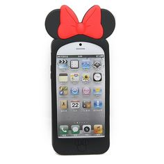 Cute 3D Mickey & Polka Dot Soft iPhone 5 Silicone Case Cover - Cute 3D Mickey & Polka Dot Soft iPhone 5 Silicone Case Cover is specially designed for you! It's made of high quality soft silicon and 3D mickey design makes your iphone 5 cute and style. Practical and economical, this protective case keeps your cell phone safe from any undesirable elements that can be harmful to its exterior. The 3D mickey and polka dot pattern on the case will make your phone more attractive and fashionable