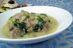 arni frikase (3) by Elly Says Opa, via Flickr Greek lamb and lemon