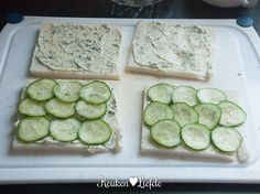 Serveer de sandwiches direct of wikkel ze goed in vershoudfolie en High Tea Sandwiches, Afternoon Tea, Tapas, Zucchini, Brunch, Babyshower, Fruit, Vegetables, Lunches