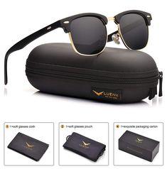e393b37aadc Mens Clubmaster Sunglasses Polarized Womens  UV 400 Protection