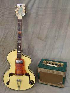 1960 Wandre Framez Brigitte Bardot Model, Yallow,Ex + Davoli Amp http://www.vintageandrare.com/product/Wandre-B.B.-Brigitte-Bardot-Davoli-Amp-1960-Yallow-46081 #vintageandrare #vandr #guitar #amp