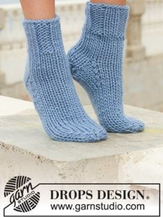 City Abyss - DROPS City Abyss Socks. See our great prices and fast service. Knitting Patterns Free, Free Knitting, Free Crochet, Crochet Patterns, Super Chunky Yarn, Office Prints, Needles Sizes, Sock Yarn, Knitting Socks