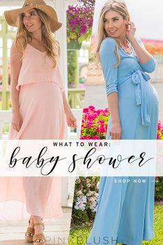 Shop cute and trendy dresses for your baby shower!