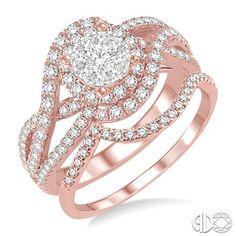 #LoveBright #Diamond #BridalSet #Engaged #RoseGold Ring