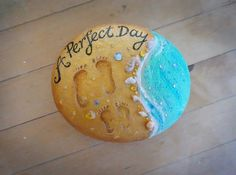 A Perfect Day at the Beach painted rock …
