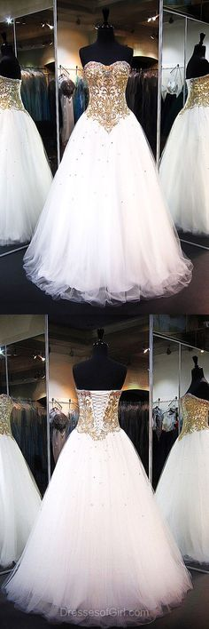 White Homecoming Dresses,Princess Formal Dresses,Prom Ball Gowns, Sweetheart Tulle Party Dresses,Elegant Evening Dresses