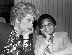 """Lucille Ball and Gary Coleman """"What you talkin' 'bout Lucy?"""""""