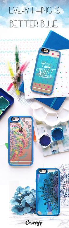 Everything is better #blue. Tap the link here to pre-order these #NewStandard™ #phonecase // http://www.casetify.com/artworks/LZVMTJixFC