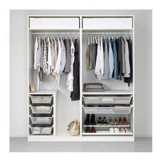 IKEA PAX wardrobe with sliding mirror doors Ikea Pax Wardrobe, Ikea Closet, Diy Wardrobe, Modern Wardrobe, Bedroom Wardrobe, Wardrobe Design, Minimal Wardrobe, Wardrobe Storage, Storage Room