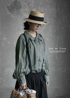 【楽天市場】【送料無料】Joie de Vivreフランダースリネンウォッシュ リボンブラウス:BerryStyleベリースタイル