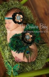 Peacock Feather Wings from The Couture Baby