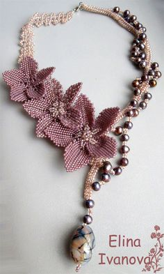 beaded lilac colored flowers    http://beadsmagic.com/wp-content/uploads/2012/10/127.jpg