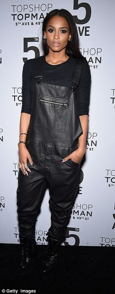 Stylish stars: Ciara and designer Tommy Hilfiger along with wife Dee posed for photos...