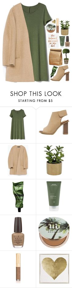 """she believed she could so she did"" by emilypondng ❤ liked on Polyvore featuring Gap, Zara, Threshold, Aesop, Aveda, OPI, Urban Decay, Dolce&Gabbana and Oliver Gal Artist Co."