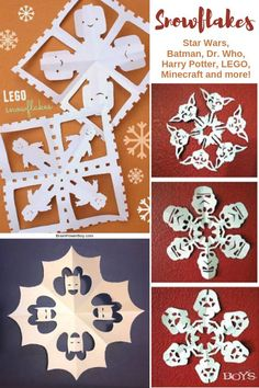 Need geek snowflake patterns? Find them here! Click through to get the best snowflake templates on geek themes. Christmas Activities For Kids, Holiday Crafts For Kids, Kid Activities, Snowflake Template, Snowflake Pattern, Kids Christmas Ornaments, Christmas Ideas, Merry Christmas, Stem Projects For Kids