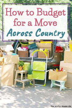 Moving to a new state, across country, or just across town can get crazy expensive! There are a lot of costs to consider if you want to move on a budget — not just the moving truck! Take a look…Read More→ Moving Expenses, Moving Costs, Moving Checklist, Moving Day, Moving Tips, Moving House, Budget Moving Truck, Moving Across Country Tips, Moving Trucks