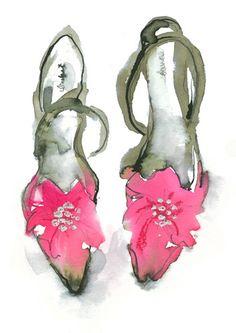 Pink Shoes - Bridget Davies Prints - Easyart.com