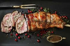 Part-Boned, Easy Carve Lamb Leg with a Redcurrant & Rosemary Stuffing & Redcurrant Jus