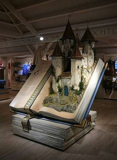 A fairy tale Book Display in a shop at the Efteling Theme Park in Kaatsheuvel, The Netherlands.