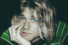 """peace-love-empathy: """"Kurt Cobain photographed by Angela Smith Rodriguez on August Colorized by peace-love-empathy. Kurt Cobain Photos, Nirvana Kurt Cobain, Jim Morrison, Club 27, Glam Rock, Nirvana Songs, Music Rock, Hard Rock, Donald Cobain"""