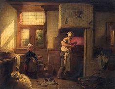 'Interior of a Bakery' by Moritz Daniel Oppenheim, 1854