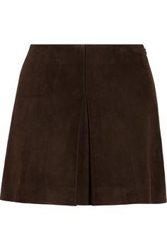 Miu Miu|Suede mini skirt|NET-A-PORTER.COM