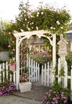 Add White Picket Fence and Arbor.
