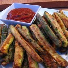 How can something so healthy taste so good? Zucchini fries gone wild!