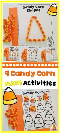 9 Fall Candy Corn Math Activities for Kindergarten