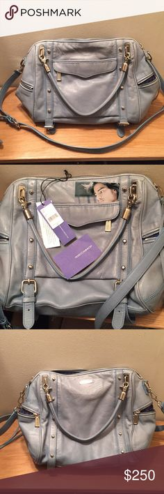 Rebecca Minkoff Sky Blue Cupid Bag EUC. Gently used, slightly faded. Comes with all tags. Very clean large main compartment, slip pockets & an inner zip. Beautiful shape, leather is nice and soft. Gorgeous signature RM lining. Sold as is. Rebecca Minkoff Bags Satchels