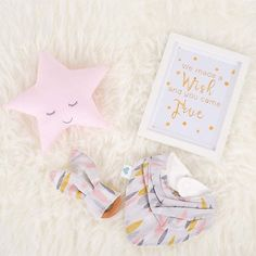 "Just a few left baby gift ""Little wishes"" for girls.  Which including a frame from@snowcherrymedia a star cushion from@mary_moo_designs and our Little bandana and bunny teething ring.  Everything for just $60 including postage. Check out @snowcherrymedia website... Happy shopping.. picture by@normamoranphotography"