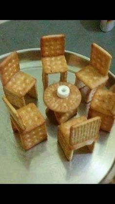 Photo by Tamil Memes Troll on October Image may contain: food Biscuit Decoration, Food Decoration, Cradle Decoration, Food Art For Kids, Cooking With Kids, Edible Crafts, Food Crafts, Arti Thali Decoration, Kids Cooking Activities